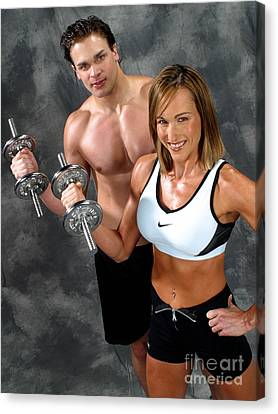 Fitness Couple 17-2 Canvas Print by Gary Gingrich Galleries