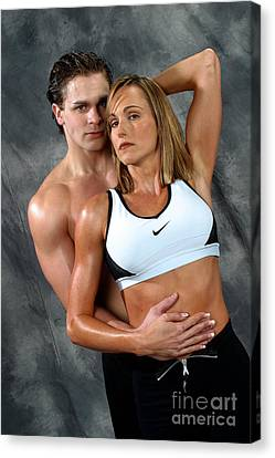 Fitness Couple 27 Canvas Print by Gary Gingrich Galleries