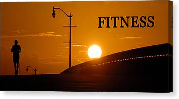 Fitness Canvas Print