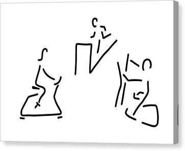 Jogging Canvas Print - Fitness Hometrainer Crosstrainer Sport by Lineamentum