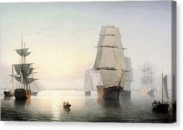 Fitz Henry Lane - Boston Harbor Sunset Canvas Print