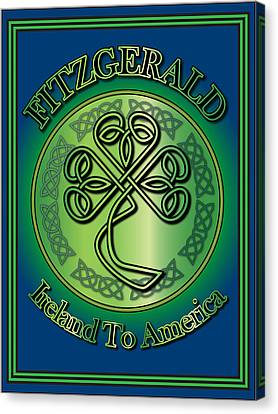 Fitzgerald Ireland To America Canvas Print by Ireland Calling