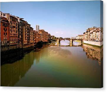 Canvas Print featuring the photograph Fiume Di Sogni by Micki Findlay