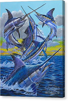 Five Billfish Off00136 Canvas Print