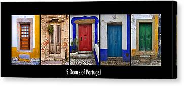Five Doors Of Portugal Canvas Print by David Letts