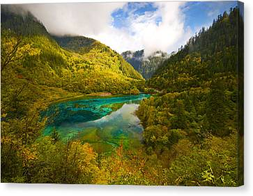 Five Flower Lake Canvas Print by Ng Hock How