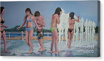 Five Fountain Friends Canvas Print
