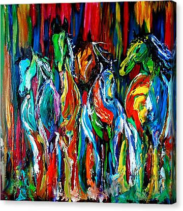 Five Horses Canvas Print