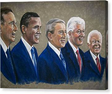 Five Living Presidents 2009 Canvas Print