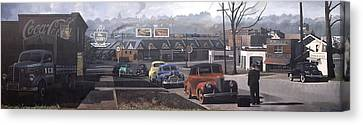 Five Points - 1948 Canvas Print