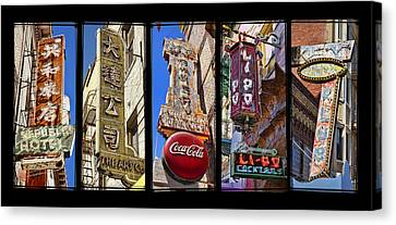 Five Signs Canvas Print by Kelley King
