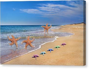 Five Star Beach Yippe Yah Canvas Print by Betsy Knapp