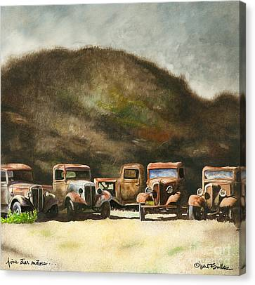 Five Star Motors... Canvas Print by Will Bullas