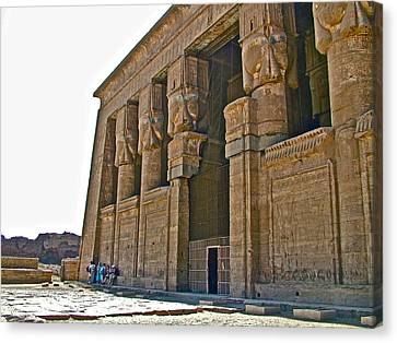 Five Thousand Year Old Temple Of Hathor In Dendera- Egypt Canvas Print by Ruth Hager
