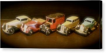 Five Toys From The Forties Canvas Print by John Colley