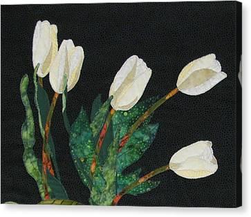 Five White Tulips  Canvas Print