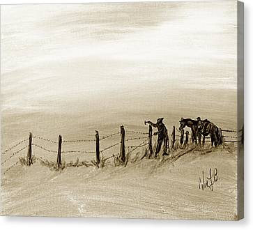 Fix On The Prairie Canvas Print by Erich Grant