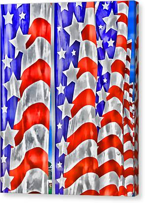 4th July Canvas Print - Flag Banners Wowc by Kevin Anderson