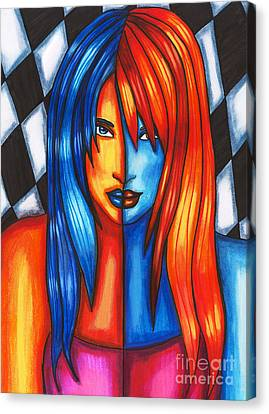 Flag Girl Canvas Print