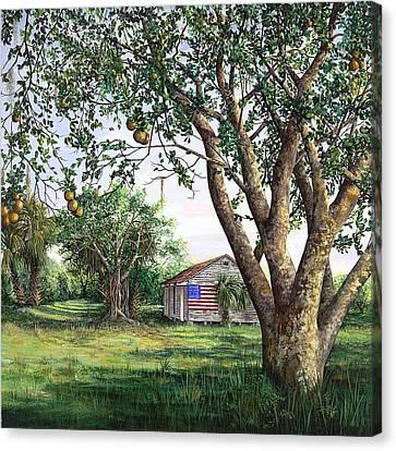 Flag House Canvas Print