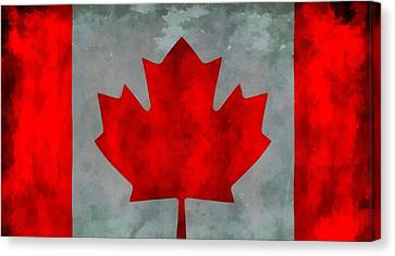Flag Of Canada Canvas Print by Dan Sproul