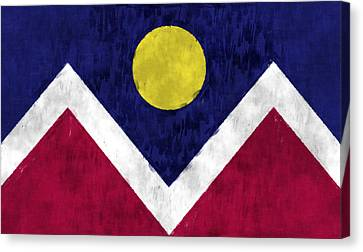 Flag Of Denver Canvas Print by World Art Prints And Designs