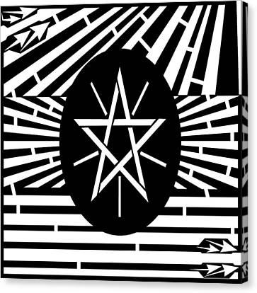 Flag Of Ethiopia Maze  Canvas Print by Yonatan Frimer Maze Artist