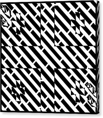 Flag Of Georgia Maze  Canvas Print by Yonatan Frimer Maze Artist
