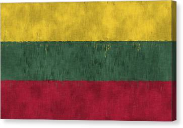 Flag Of Lithuania Canvas Print by World Art Prints And Designs