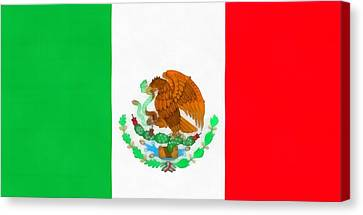 Flag Of Mexico Canvas Print by Dan Sproul