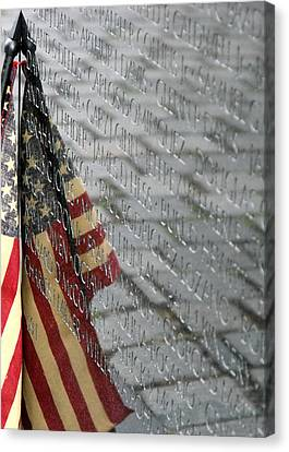 Flag On The Wall Canvas Print