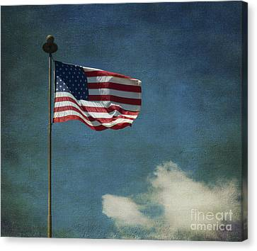 Flag - Still Standing Proud - Luther Fine Art Canvas Print