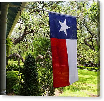 Flag -  Texas The Lone Star State -  Luther Fine Art Canvas Print by Luther Fine Art