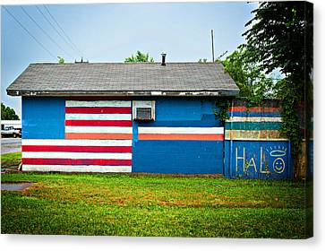 Flag Wall Canvas Print by Bud Simpson
