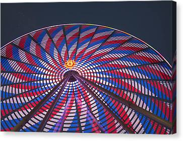 Canvas Print featuring the photograph Flag Wheel by Darleen Stry