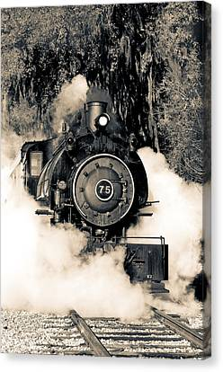 Flagg Coal Steam Engine Blow Out Canvas Print