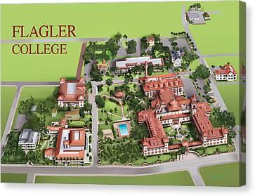 Flagler College Canvas Print by Rhett and Sherry  Erb