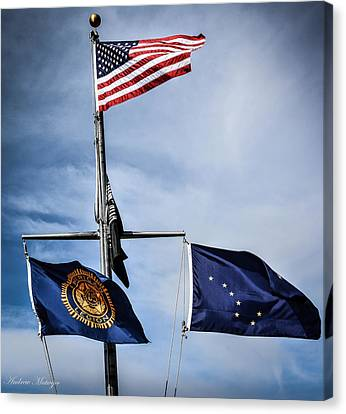 Flags Canvas Print by Andrew Matwijec