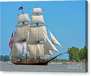 Canvas Print featuring the photograph Flagship Niagara by Rodney Campbell