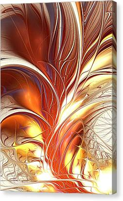 Flame Burst Canvas Print by Anastasiya Malakhova