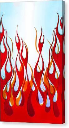 Flame Design Phone Case Canvas Print by Mark Rogan