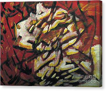 Flame-hearted Canvas Print by Wendy Coulson