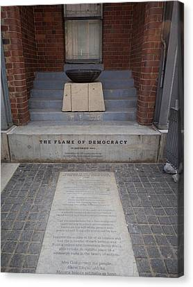 Flame Of Democracy, Constitution Hill Canvas Print