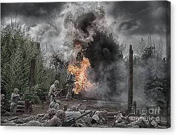 Flame Of Victory Canvas Print by Ken Williams