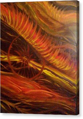 Flame Run Canvas Print by Adriana Garces