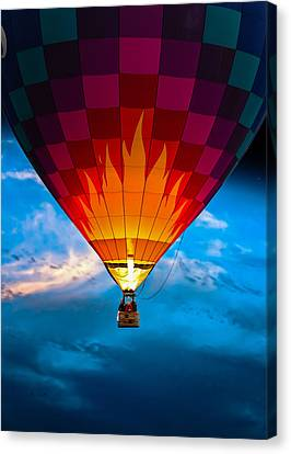 Flame With Flame Canvas Print by Bob Orsillo