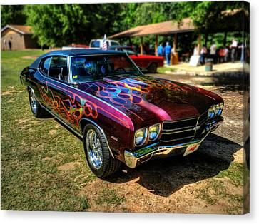 Flamed '70 Chevy Malibu 001 Canvas Print by Lance Vaughn