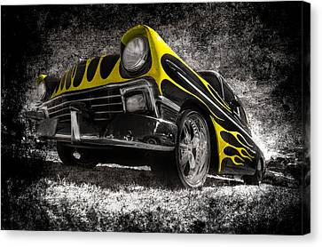 Flamed Chevrolet Bel Air Canvas Print by motography aka Phil Clark