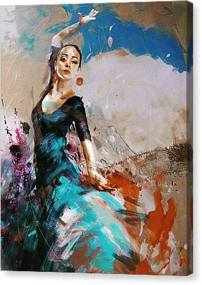 Ballerinas Canvas Print - Flamenco 42 by Maryam Mughal