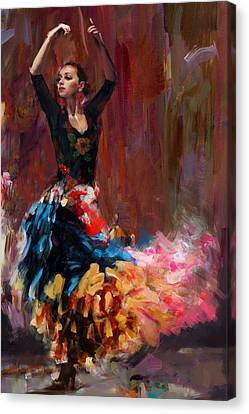 Performers Canvas Print - Flamenco 50 by Maryam Mughal